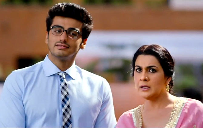 Amrita Singh with Arjun Kapoor in 2 States