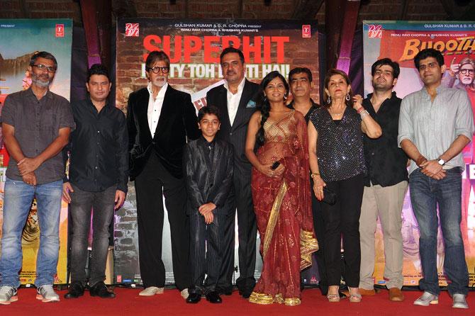 Nitesh Tiwari, Bhushan Kumar, Amitabh Bachchan, Parth Bhalerao, Boman Irani, Usha Jadhav, Kishan Kumar, Renu Chopra, Kapil Chopra and Abhay Chopra