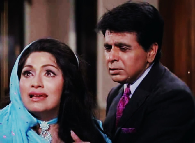 Bindu and Dilip Kumar in Dastan