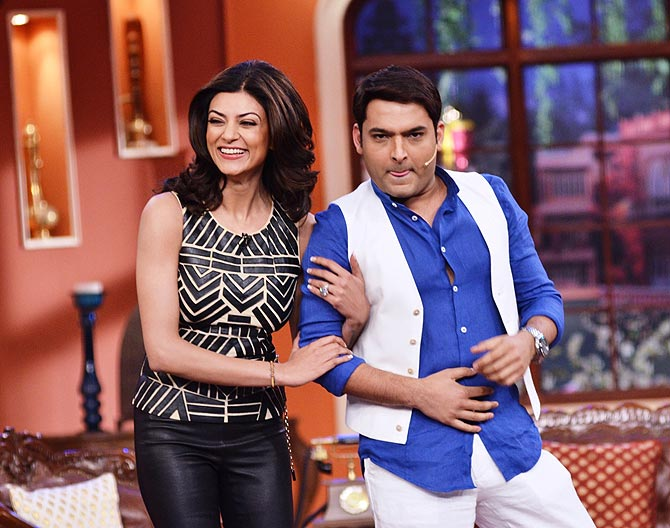 Sushmita Sen and Kapil Sharma
