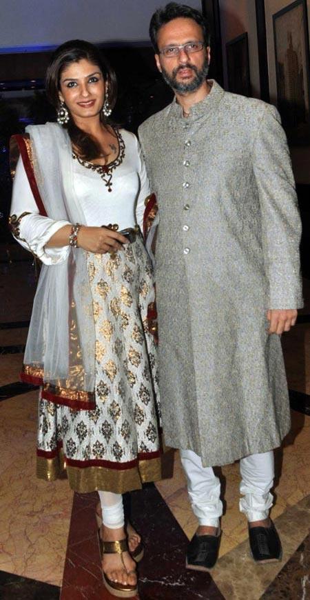 Raveena Tandon and Anil Thadani