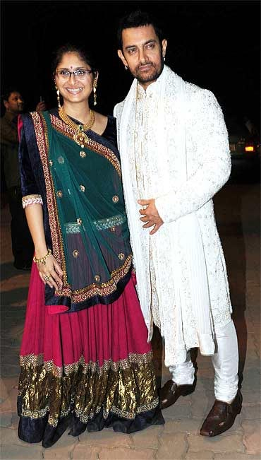 Aamir Khan-Kiran Rao at Imran Khan's pre wedding bash