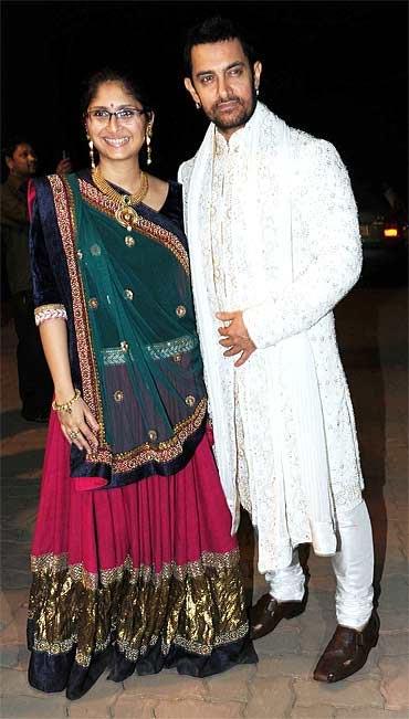 Aamir Khan-Kiran Rao at Imran Khan's pre wedding bash