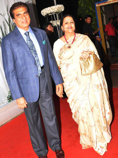 Raj Babbar with wife Nadira
