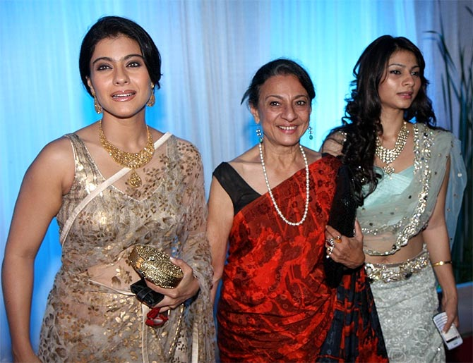 Kajol, Tanuja and Tanishaa