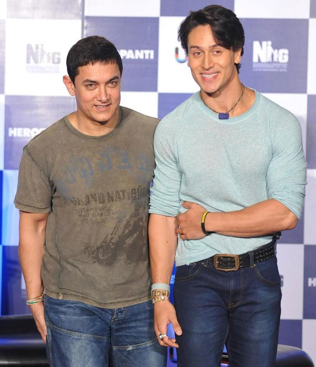 Tiger Shroff with Aamir Khan