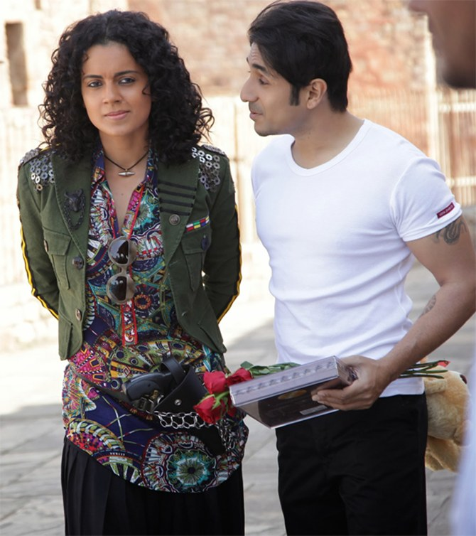 Kangna Ranaut and Vir Das in Revolver Rani