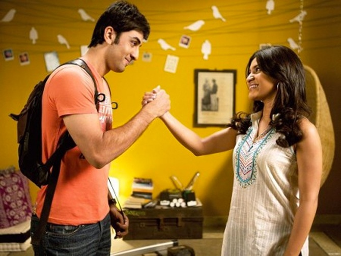 Ranbir Kapoor and Konknan Sen Sharma in Wake Up Sid