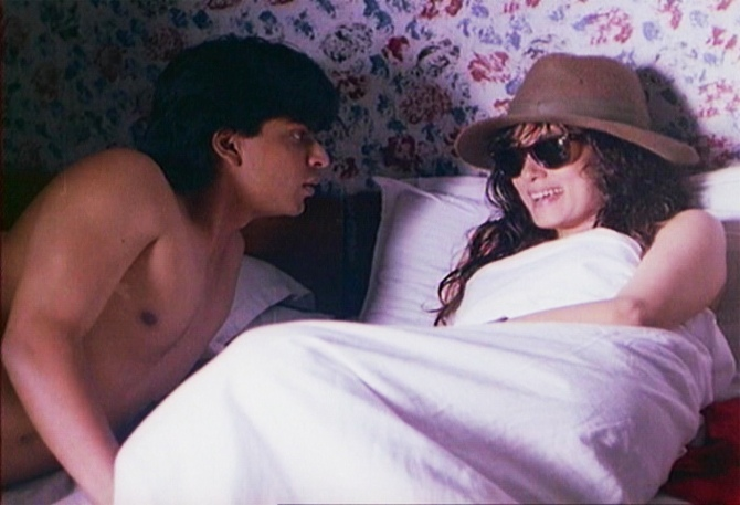 Shah Rukh Khan and Deepa Sahi in Maya Memsaab