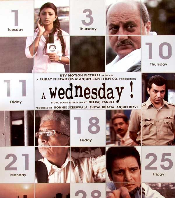 Movie poster of A Wednesday