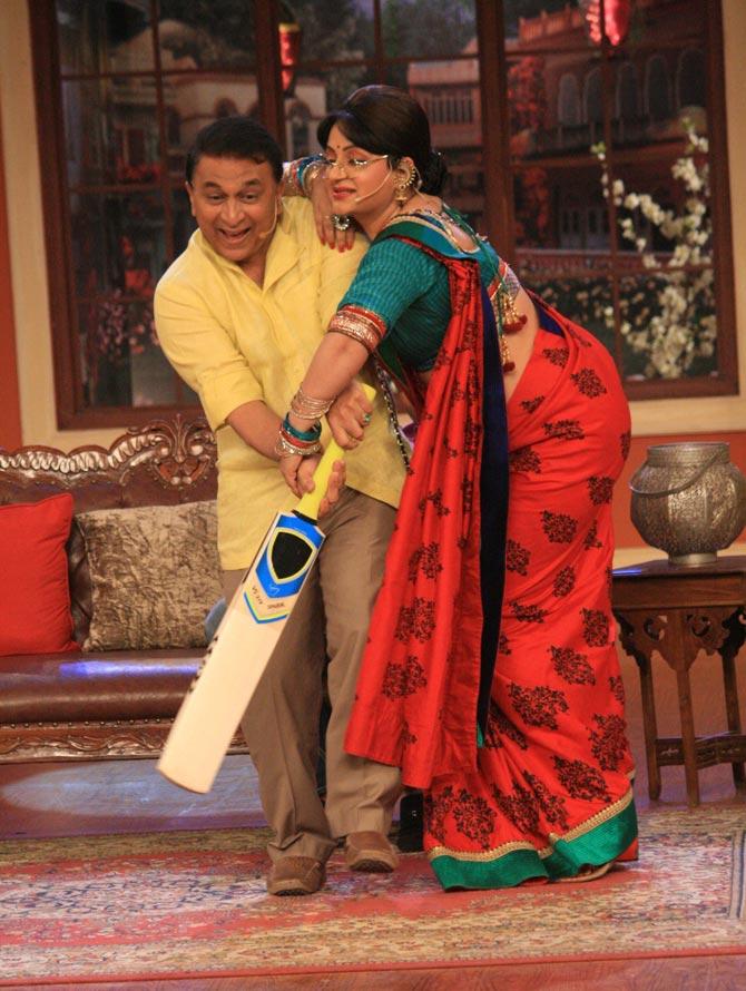Sunil Gavaskar and Upasana Singh