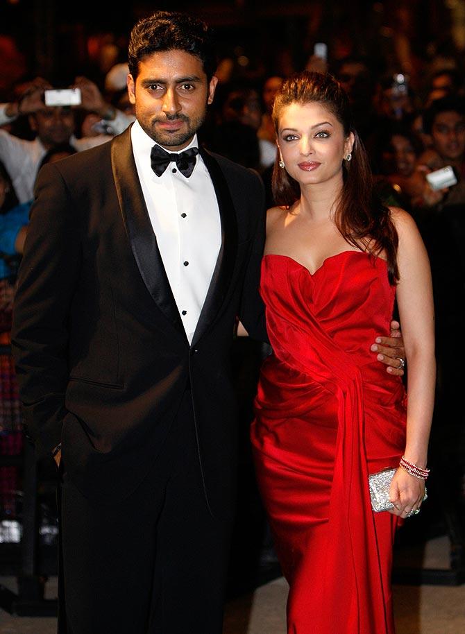 Aishwarya Rai Bachchan with Abhishek Bachchan