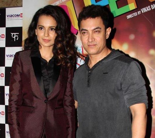 Kangna Ranaut and Aamir Khan