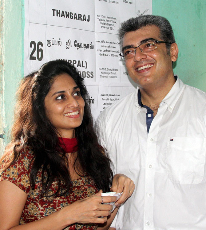 amil star Ajith and his actress wife Shalini welcomed their second ...
