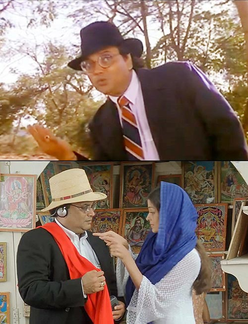 Subhash Ghai in Hero (top) and Taal (bottom), with Aishwarya Rai