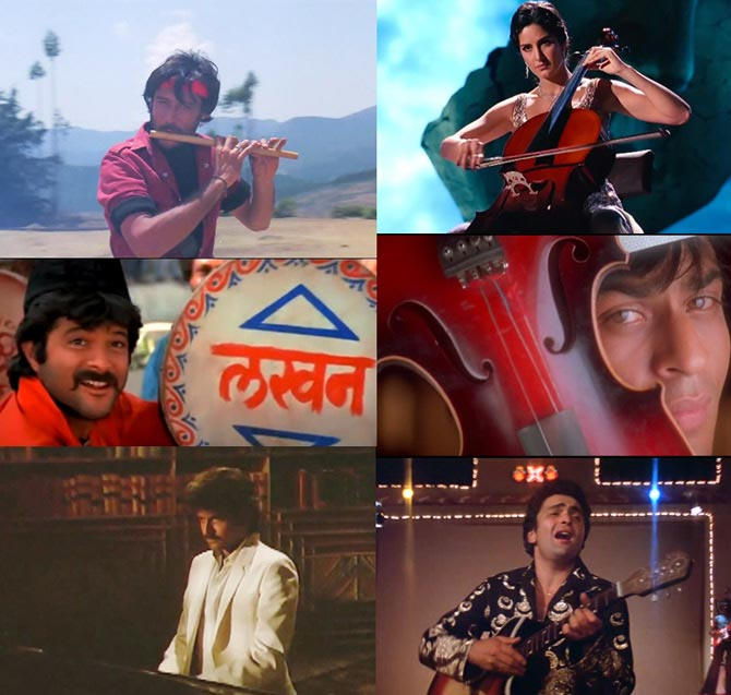 Scenes from Hero, Yuvraaj, Ram Lakhan, Pardes, Meri Jung and Karz