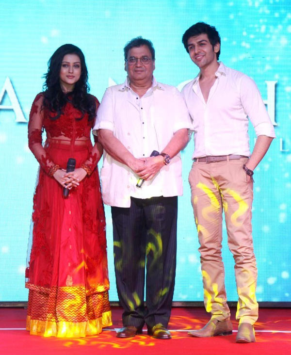 Subhash Ghai with Mishti and Kartik