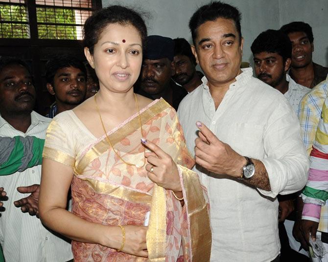 Kamal Haasan and Gouthami