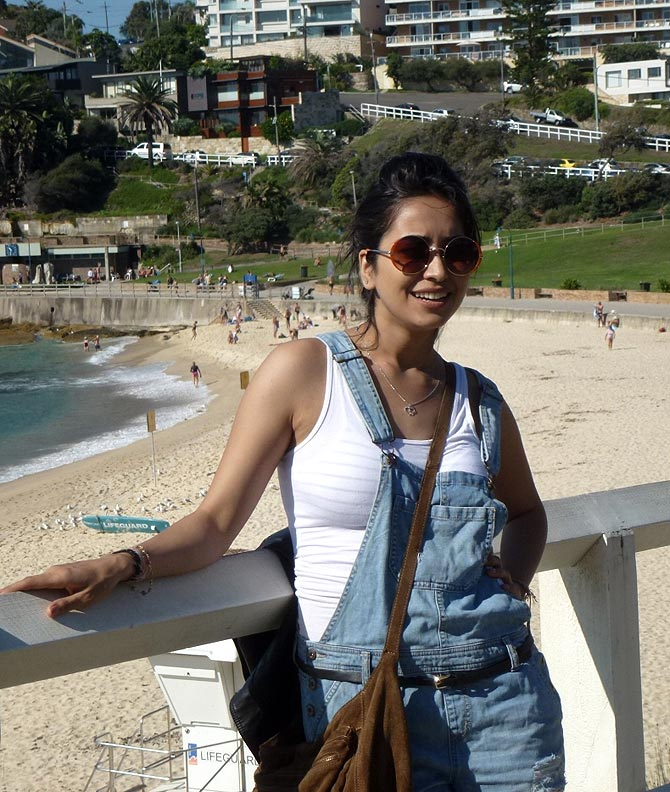 Asha Negi at Bondi Beach Australia