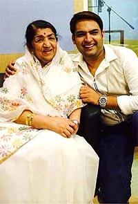 Lata Mangeshkar and Kapil Sharma