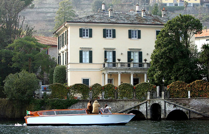 Villa Oleandra, George Clooney's home, in the northern Italian lakefront hamlet of Laglio, Italy