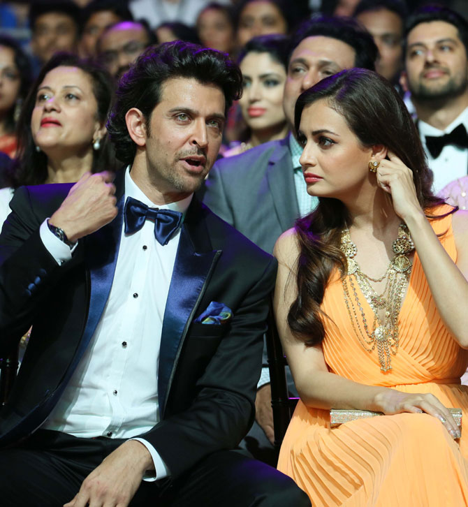 Hrithik Roshan and Dia Mirza