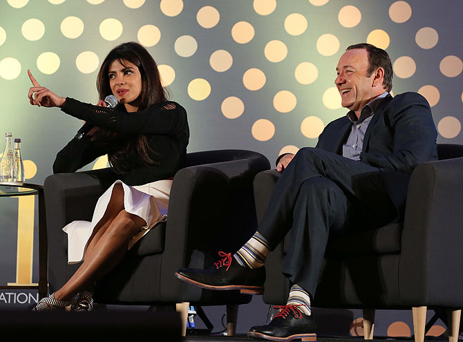 Priyanka Chopra and Kevin Spacey