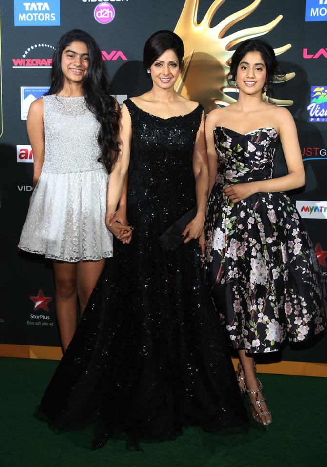 Jhanvi, Sridevi and Khushi