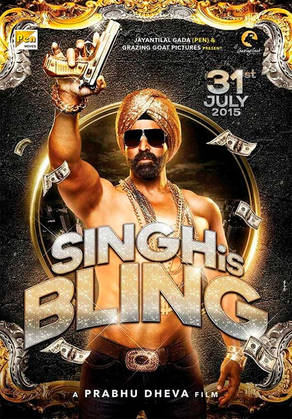 Movie poster of Singh Is Bling
