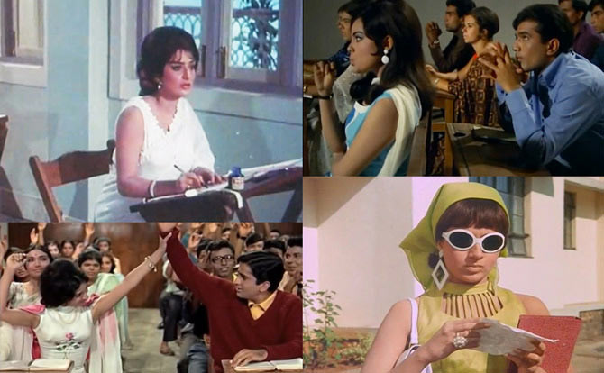 Collage of Padosan, Do Raaste, Waqt and Haseena Maan Jayegi