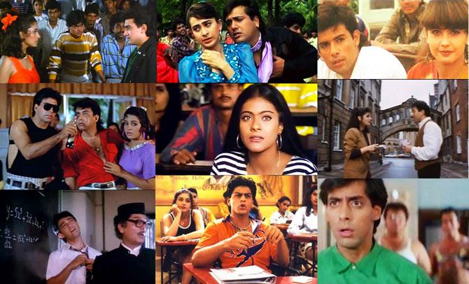 Collage of Dulara, Sir, Khiladi, Gupt, Khastriya, Jo Jeeta Wohi Sinkander, Kuch Kuch Hota Hai and Baaghi