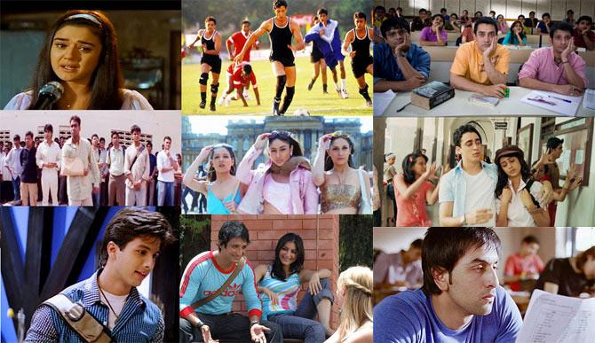 Collage of Yuva, Kya Kehna Ishq Vishk, K3G, Aap Mujhe Ache, Rang De Basanti, 3 Idiots, JTYJN, Wake Up Sid