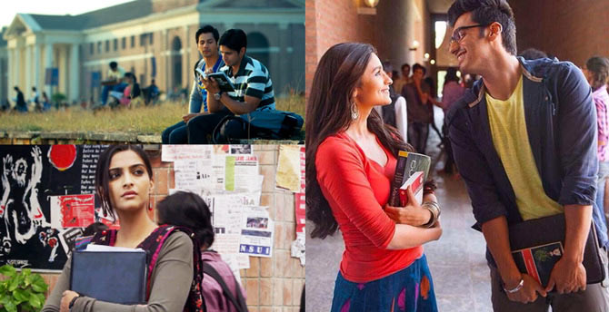 Collage of Student Of The Year, 2 States and Raanjhanaa