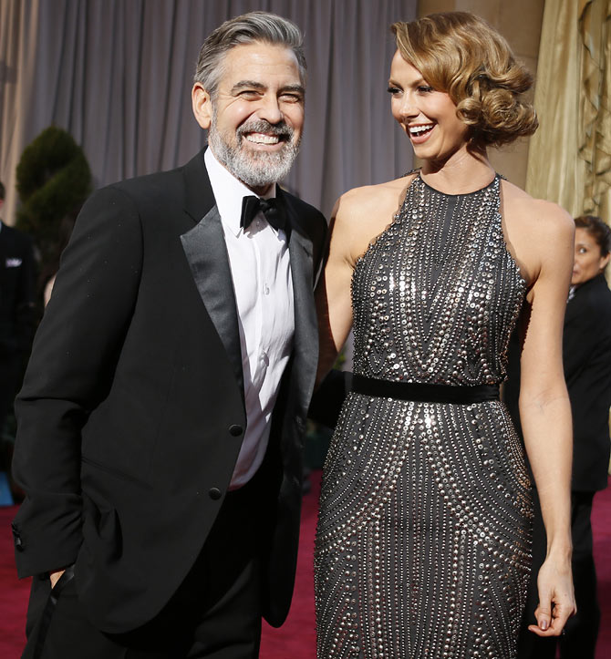 Stacy Kiebler with George Clooney