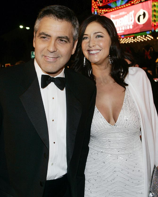 Lisa Snowden with George Clooney