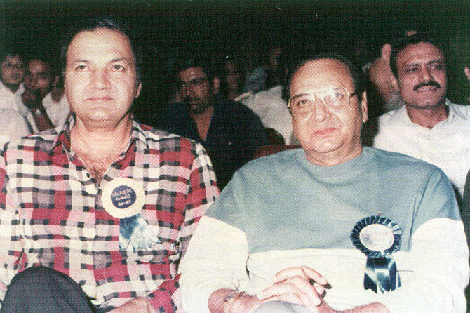 Prem Chopra and Pran.