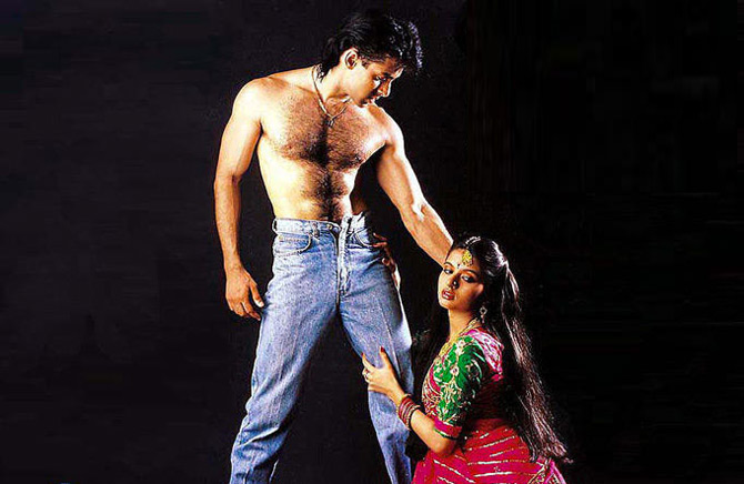 Salman Khan and Bhagyashree in Maine Pyaar Kiya