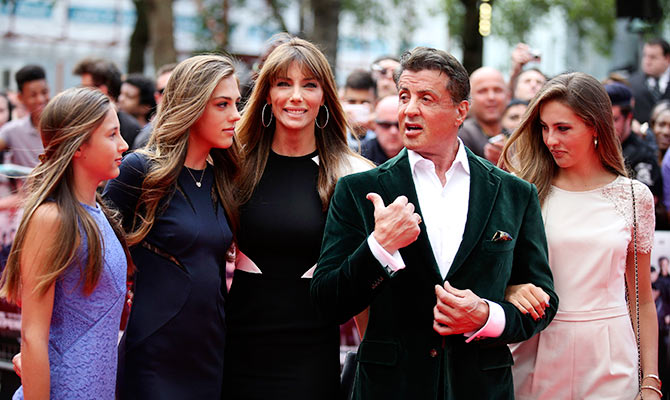 Sylvester Stallone with family