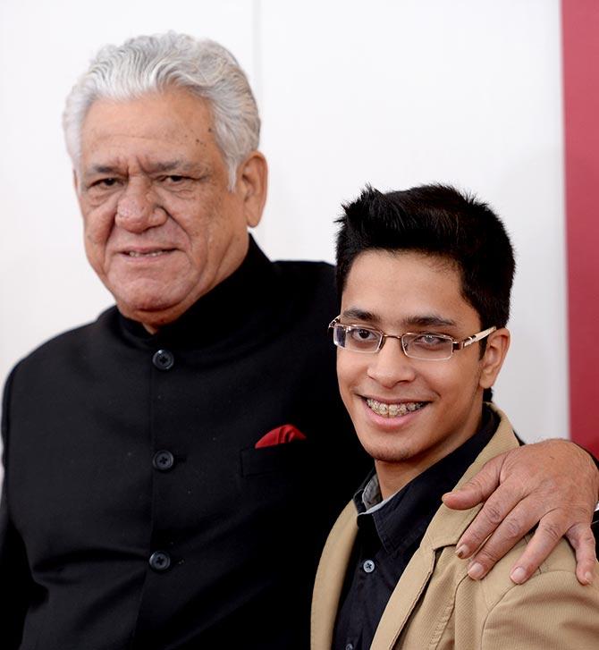 Om Puri with son Ishaan