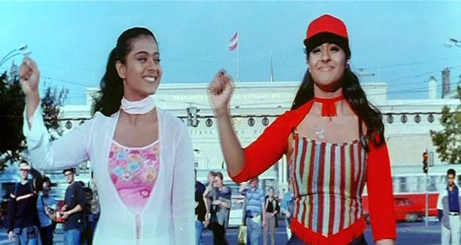 Kajol in a double role in Kuch Khatti Kuch Meethi