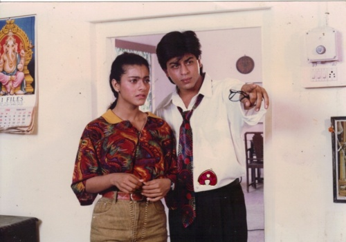 Kajol and Shah Rukh Khan in Baazigar