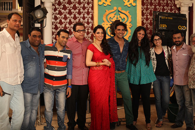 Sajid and Farhad with the cast and crew of Entertainment