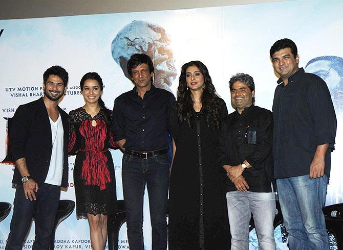 Shahid Kapoor, Shraddha Kapoor, Kay Kay Menon, Tabu, Vishal Bhardwaj and Siddharth Roy Kapur