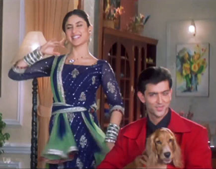 Kareena Kapoor and Hrithik Roshan in Main Prem Ki Diwani Hoon