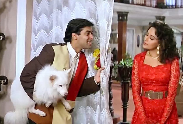 Tuff the dog, Salman Khan and Madhuri Dixit in Hum Aapke Hain Koun..!