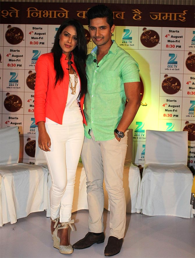 Ravi Dubey with Nia Sharma