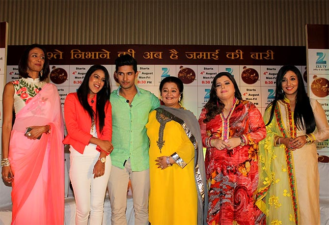 The cast of Jamai Raja