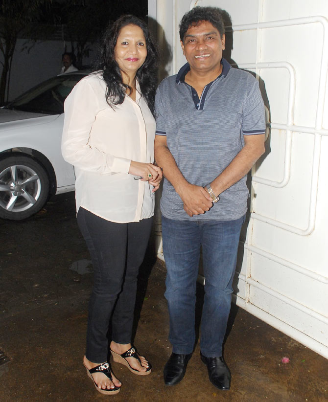 Sujhata and Johnny Lever