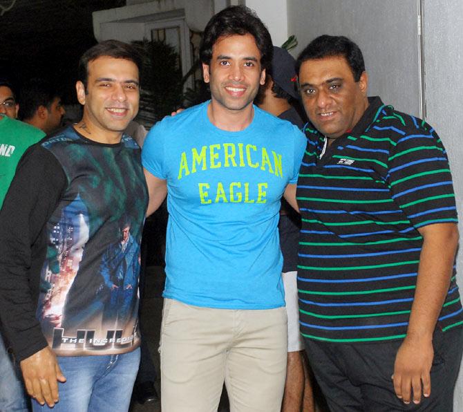 Tusshar Kapoor with Sajid-Farhad