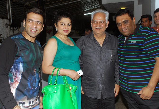 Ramesh Sippy and Kiran Juneja with Sajid-Farhad.